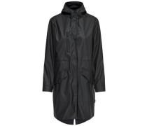 Lange Regenjacke schwarz