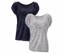 T-Shirts (2 Stück) blau / grau