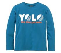 """Langarmshirt """"yolo"""" für Jungen blau"""