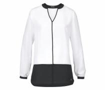 Klassische Bluse schwarz / weiß