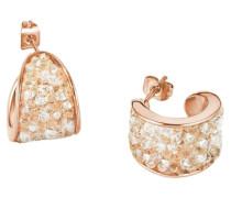 Paar Creolen mit Swarovski Kristallen rosegold