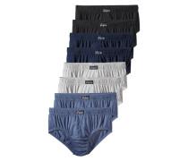 Slip (8 Stck.) kobaltblau / blaumeliert / graumeliert / schwarz