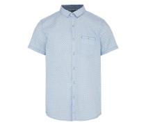 Hemd 'patterned summery' rauchblau