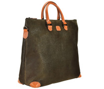 Life Milano Shopper Tasche 40 cm Laptopfach rostbraun / oliv