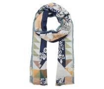 Schal mit Blumen Allover-Muster navy / mischfarben