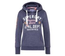 Sweatshirt 'track & Field Hood' blau