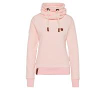 Sweatjacke aus Nicki-Stoff rosé