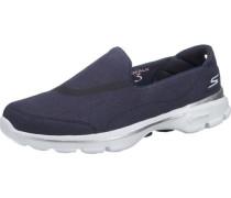 Go Walk 3 Riviera Sneakers blau