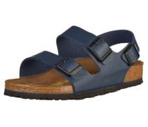 Sandalen 'Milano' dunkelblau / braun