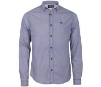 Hemd blau / mischfarben / naturweiß