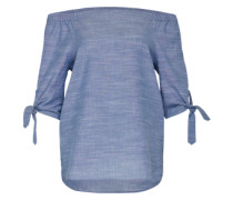 Off-Shoulder Bluse 'Sasha' blau