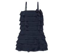 Festliches Kleid mit Volants für Mädchen nachtblau