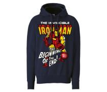 """Kapuzen-Sweatshirt """"Iron Man"""" blau"""