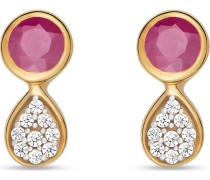 Ohrstecker gold / pink / transparent