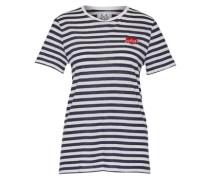 Shirt 'Sucker' blau / weiß