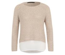 Pullover 'Hanoi' beige / greige / weiß