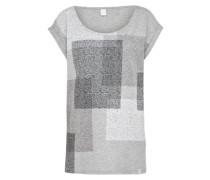 T-Shirt 'Geometric' grau