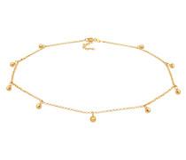 Halskette Choker Kugel gold