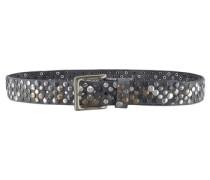 Nietengürtel »mit dekorativer Schließe« grau