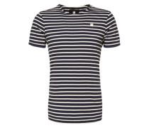 T-Shirt 'Prebase' blau / weiß