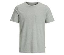 Lässiges T-Shirt grünmeliert