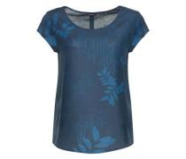 Shirtbluse 'Flinka botanical' dunkelblau