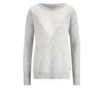 Pullover hellgrau / wollweiß