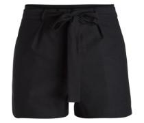 High Waist-Shorts schwarz
