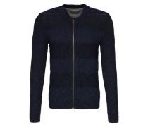 'Cardigan zipper 96 CO 4 PA' blau