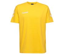 T-Shirt weiß / gelb