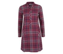 Kleid in Holzfäller-Optik rot
