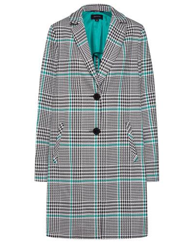 Mantel türkis / grau / weiß