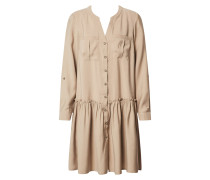 Kleid 'vmmichalla' schlammfarben / beige