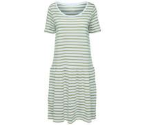 Kleid mit kurzen Ärmeln schilf / weiß