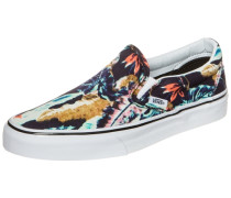Classic Slip-On Tropical Sneaker Damen türkis / hellbraun / mischfarben / orange / schwarz
