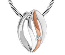 Anhänger ohne Kette mit Diamant grau