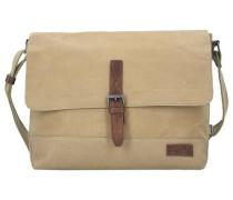 Messenger 'Bali' mit Laptopfach 38 cm beige / dunkelbeige