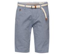 Bermuda-Shorts mit Gürtel blau / taubenblau