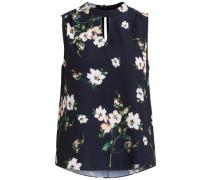Blumenmuster Bluse ohne Ärmel
