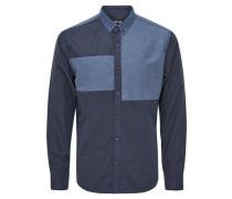 Detailliertes Langarmhemd blau
