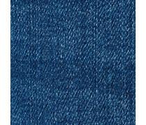 Straight-Jeans blau