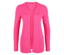 Cardigan mit breitem Rippsaum pink