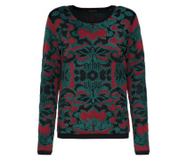 Pullover 'jacquard quality' tanne / rot
