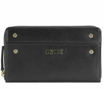 Rosella Geldbörse Leder 19 cm schwarz