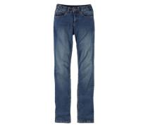 5-Pocket-Jeans »Svenja: Röhre mit komfortabler Leibhöhe« blau