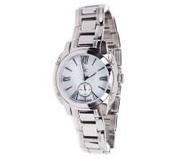 Armbanduhr chronograph silber / weiß