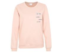 Pullover mit Aufnähern rosa