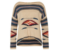 Pullover mit Ethnomuster creme / mischfarben