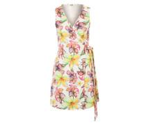 Jerseykleid im Wickeldesign mischfarben / pink / weiß