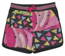 Shorts für Kinder pink / schwarz